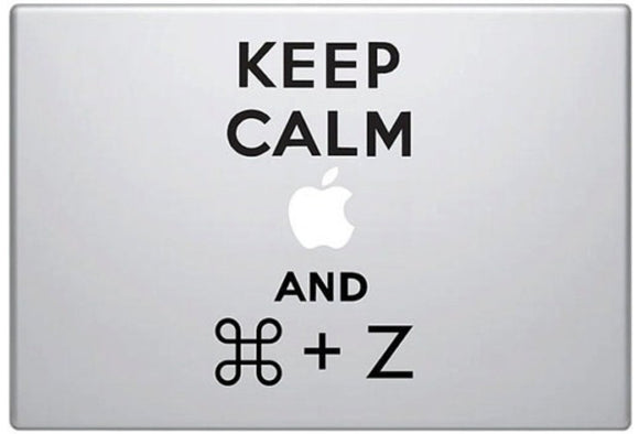 Sticker MacBook KEEP CALM AND UNDO