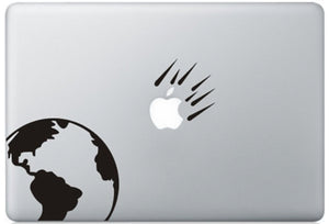 Sticker MacBook METEORITE TERRE