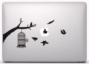Sticker MacBook CAGE OISEAUX