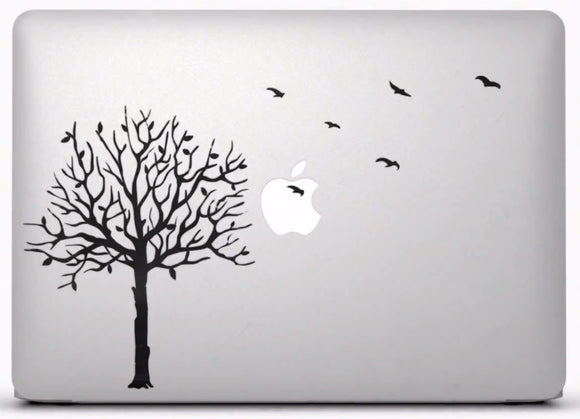 Sticker MacBook ARBRE OISEAUX