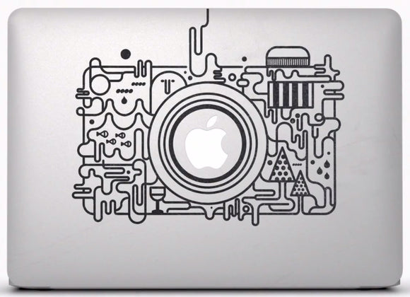 Sticker MacBook APPAREIL PHOTO