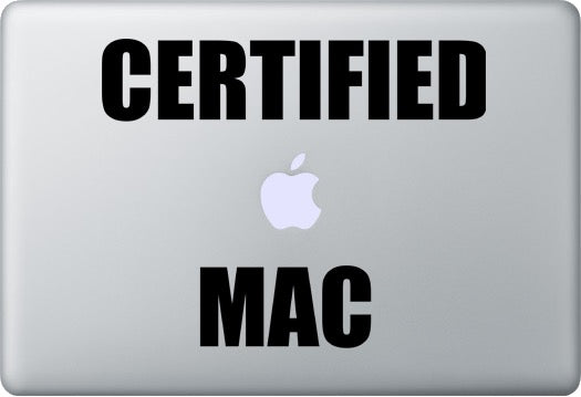 Sticker MacBook CERTIFIED MAC