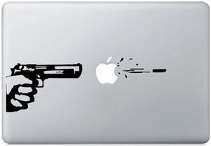 Sticker MacBook PISTOLET GUN