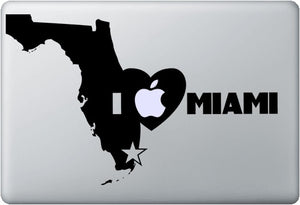 Sticker MacBook I LOVE MIAMI