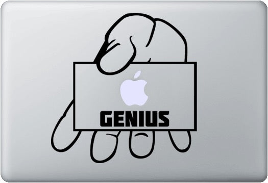 Sticker MacBook GENIUS