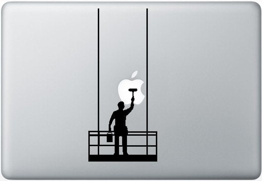 Sticker MacBook LAVEUR DE VITRES
