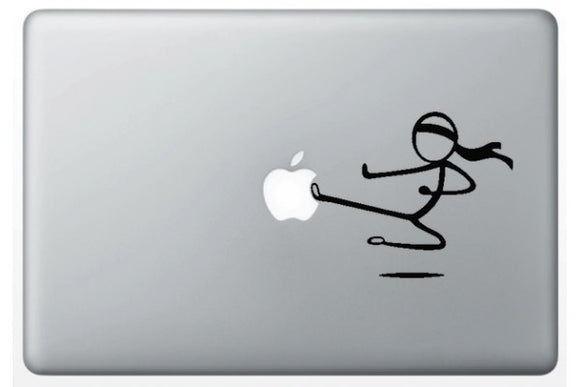 Sticker MacBook STICKMAN KARATE