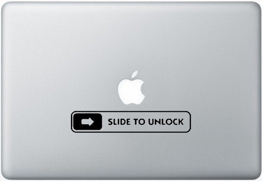 Sticker MacBook SLIDE TO UNLOCK