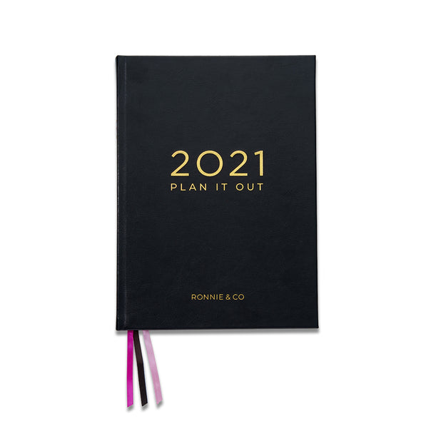 "2021 Planner | A4 Planner | ""Licorice"" Black 
