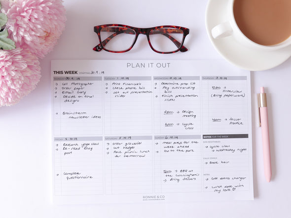 Weekly Plan It Out Desk Pad
