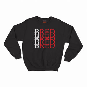 BRED Repeat Crewneck- Black
