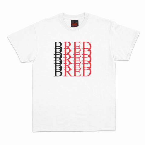 BRED Repeat Tee-White