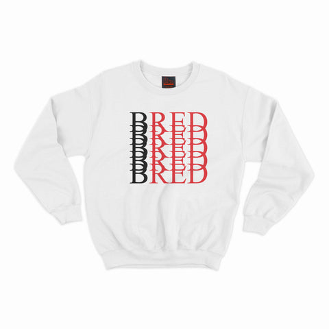 BRED Repeat Crewneck- White