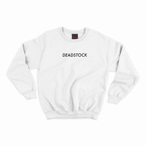 """Deadstock"" Crewneck- White"