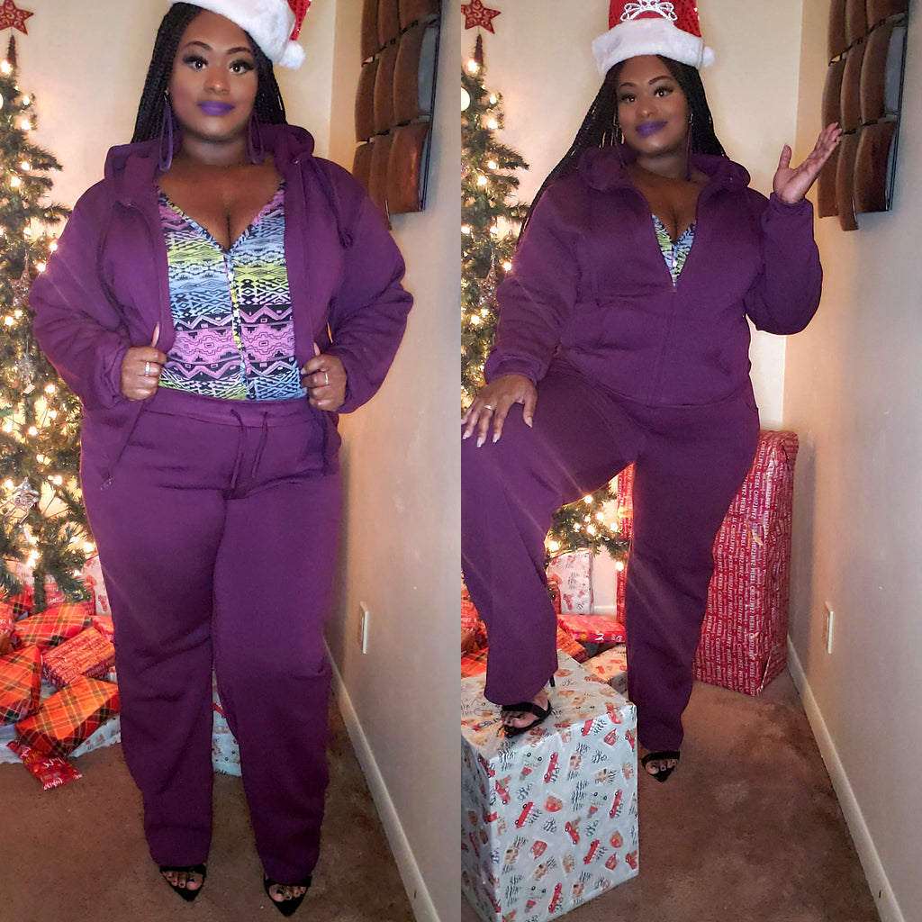 Cuddle up Sweatsuit (Purple)