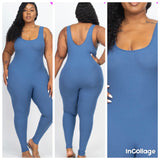 Don't be basic Jumpsuit (blue Haze)
