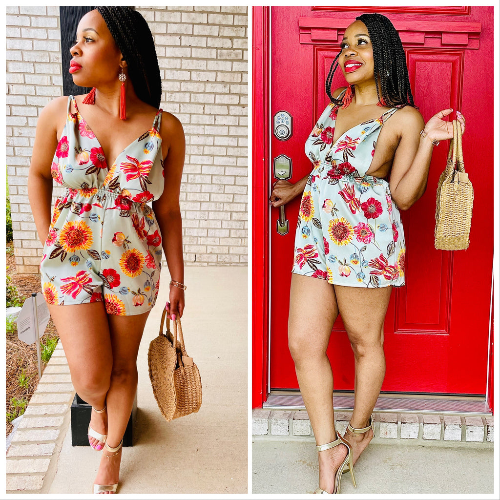 Vacation Floral Romper