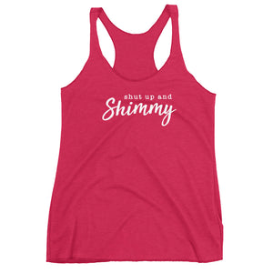 Just Shimmy. Triblend Racerback Tank