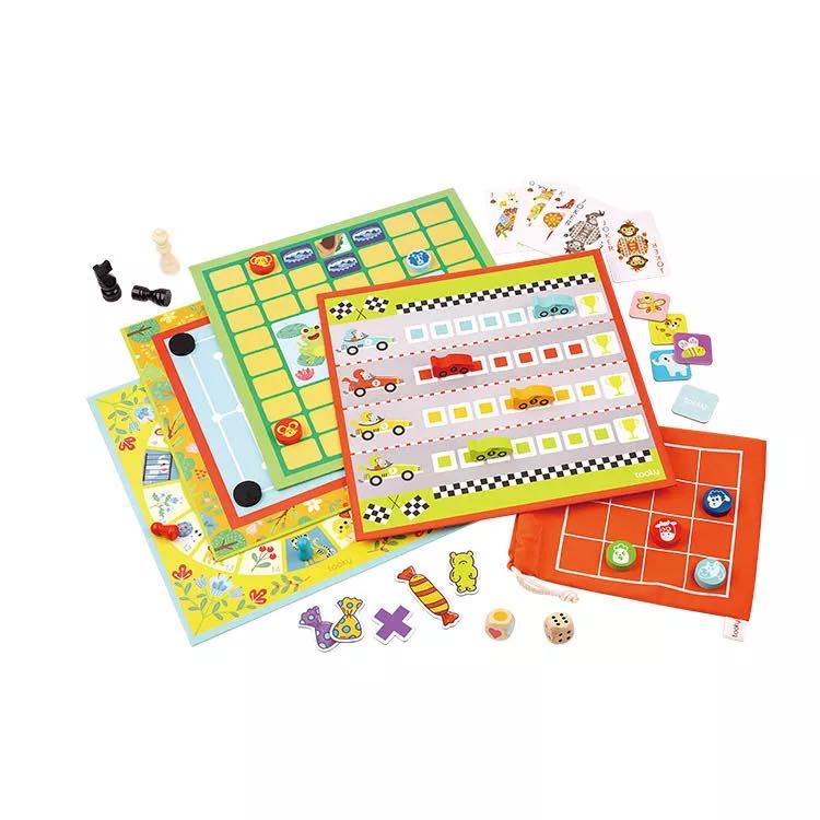 Tooky Toy 18-in-1 Classic Family Board Game Set - Best4Kids