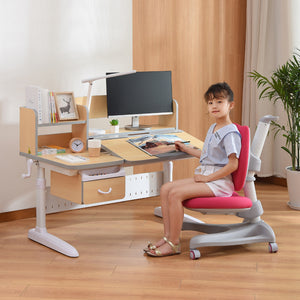 Totguard Ergonomic Kids Desk and Chair Set - HT512SNW - Best4Kids