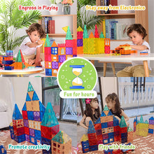 Load image into Gallery viewer, Best4kids Tiles 120 Piece Set  Clear 3D Color Magnetic Building Tiles - Best4Kids
