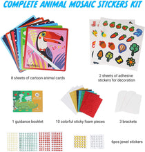 Load image into Gallery viewer, Jar Melo Mosaics Stickers/Mosaics Painting--Animal Homeland - Best4Kids