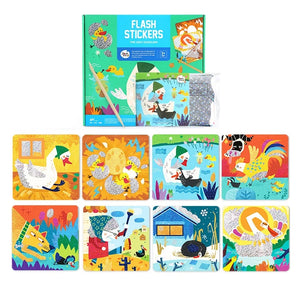 FLASH STICKERS-THE UGLY DUCKLING - Best4Kids
