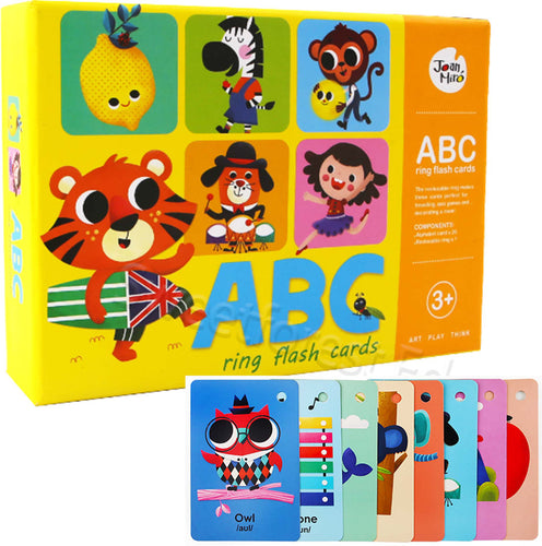 JarMelo/JoanMiro - ABC learning ring flash cards - Best4Kids