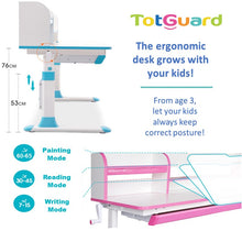Load image into Gallery viewer, Ergonomic Study Desk - HT412 - Best4Kids