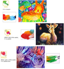 Load image into Gallery viewer, Jar Melo Washable Crayons - Non Toxic; 3 In 1 Effect (Crayon- Pastel- Watercolor) - Best4Kids