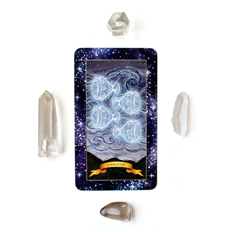 The Constellation Tarot deck - Learn tarot card meanings of 4 of Cups