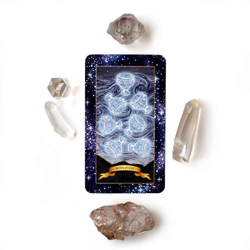 The Constellation Tarot deck - Learn tarot card meanings of 7 of Cups