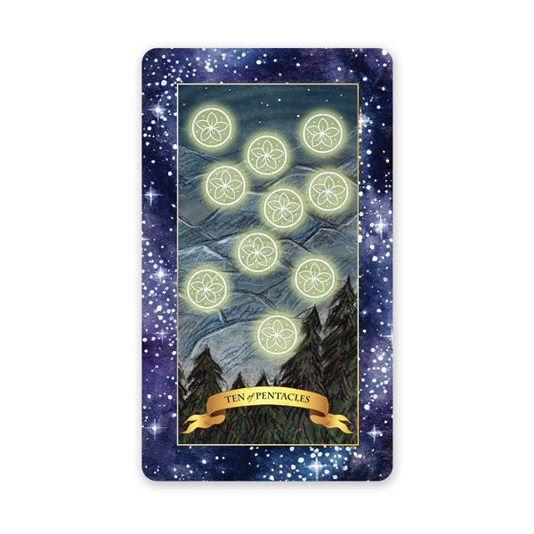 The Constellation Tarot deck - Learn tarot card meanings Minor Arcana, 10 of Pentacles