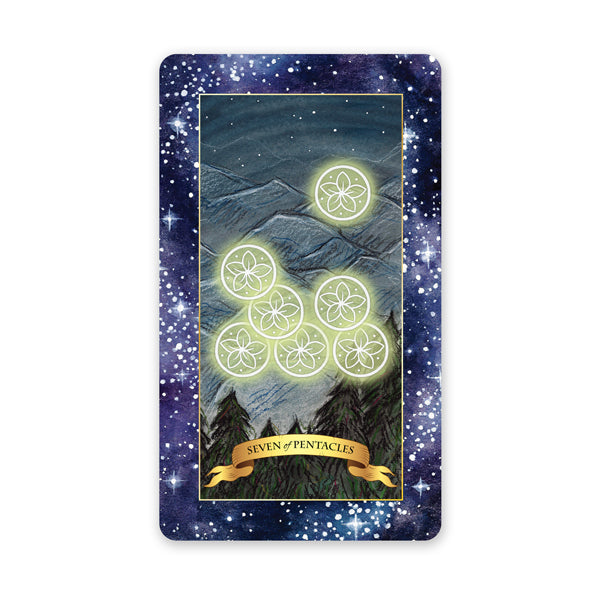 The Constellation Tarot deck - Learn tarot card meanings of 7 of Pentacles