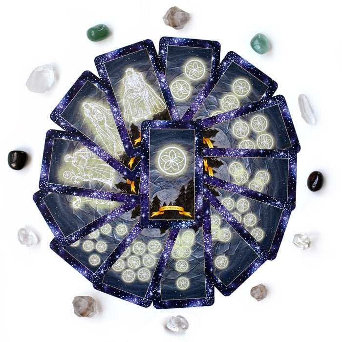The Constellation Tarot deck - Learn tarot card meanings of the Pentacles suit
