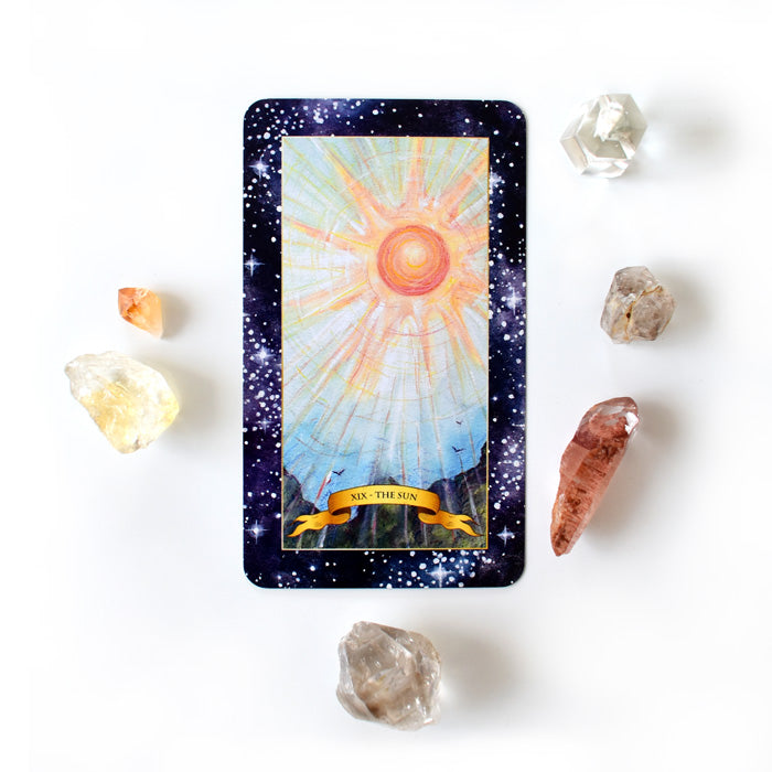 The Constellation Tarot deck - Learn tarot card meanings of the Sun card