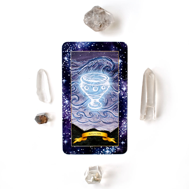 Ace of Cups Tarot card from The Constellation Tarot cards deck