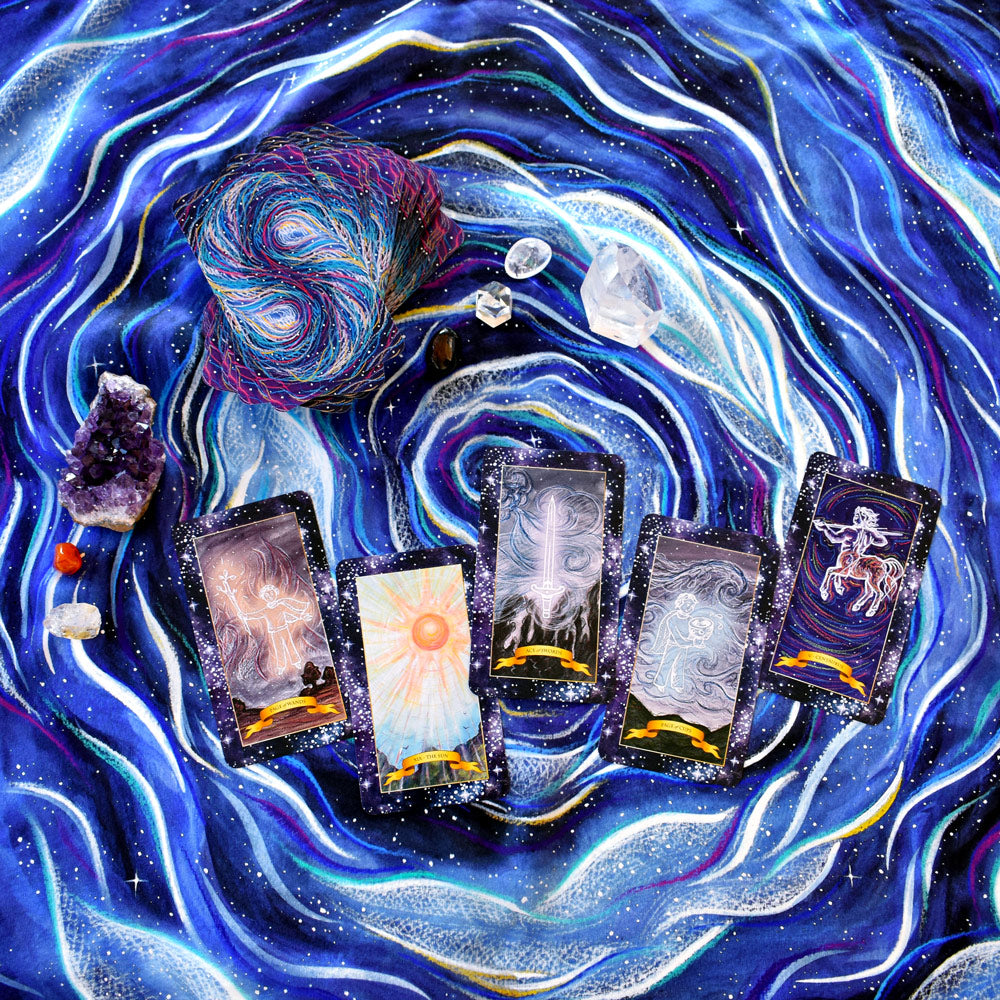 The Constellation Tarot cards deck and silk tarot cloth