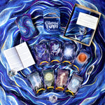The Cosmic Ocean silk tarot cloth and Constellation Tarot cards deck set