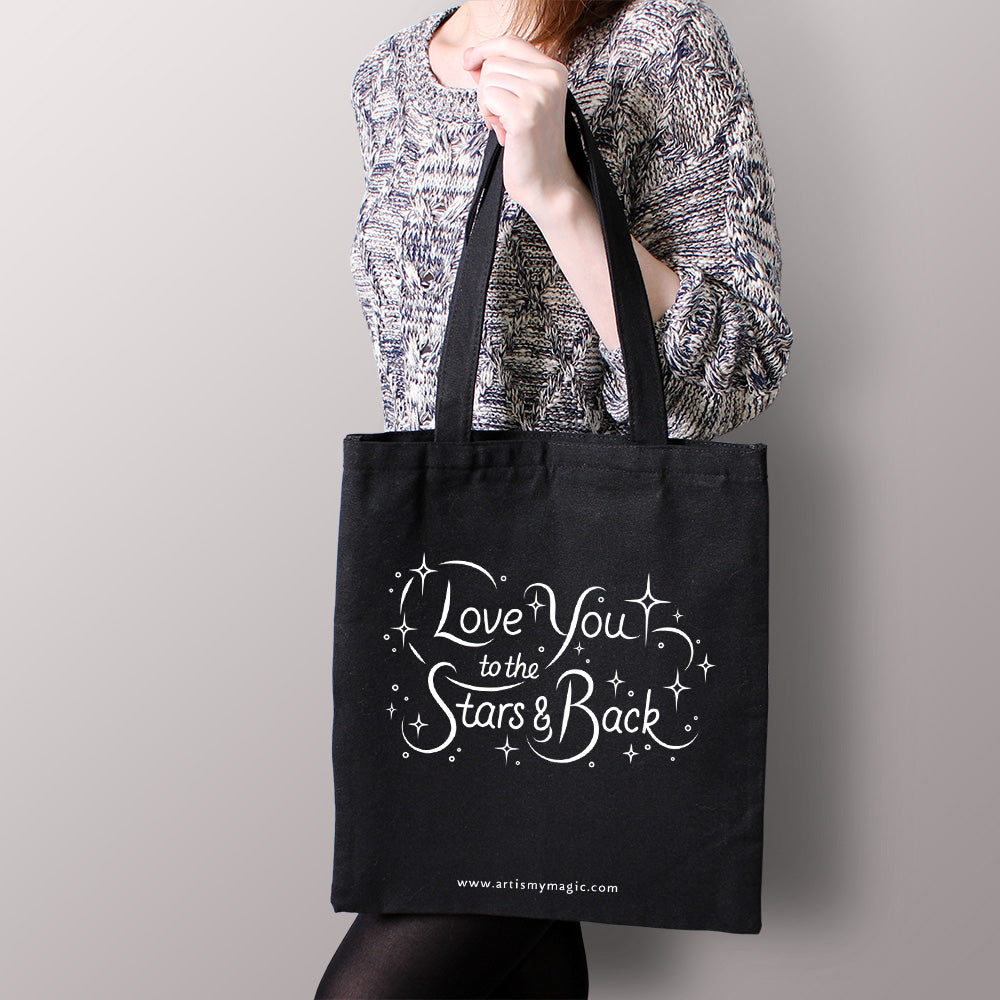 Canvas Tote Bag (Black)