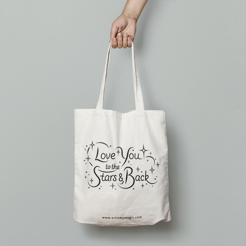 Canvas tote bag designed with quote