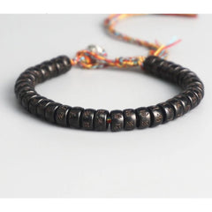Coconut Shell Beads Carved Handmade Bracelet-Gift Or Pleasure