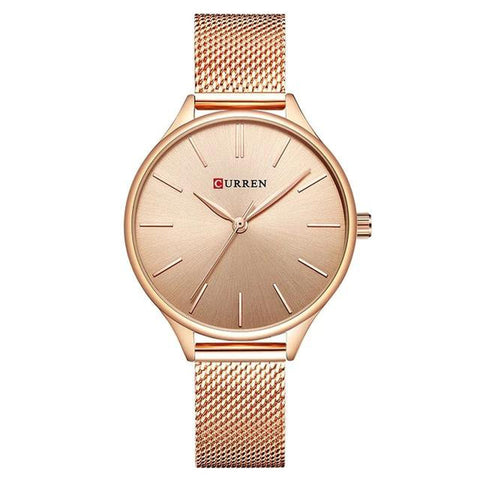 Milanese Steel Rose Gold Women's Wristwatch for $29.99