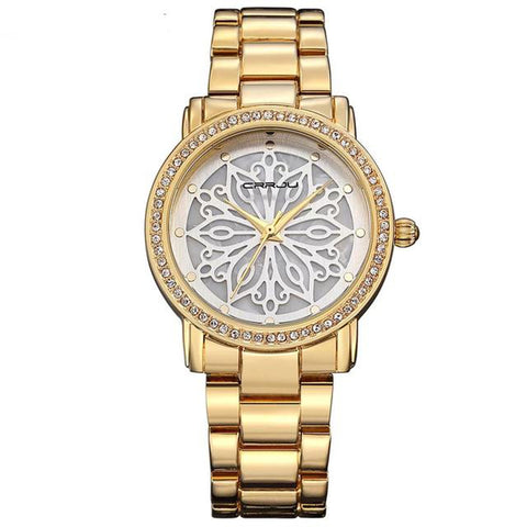 Rose Gold Floral Pattern Luxury Watch for $26.99