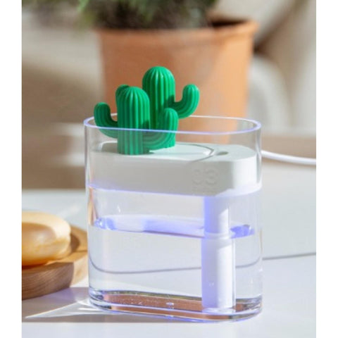 Ultrasonic Clear Cactus Air Humidifier 160ml for $26.99