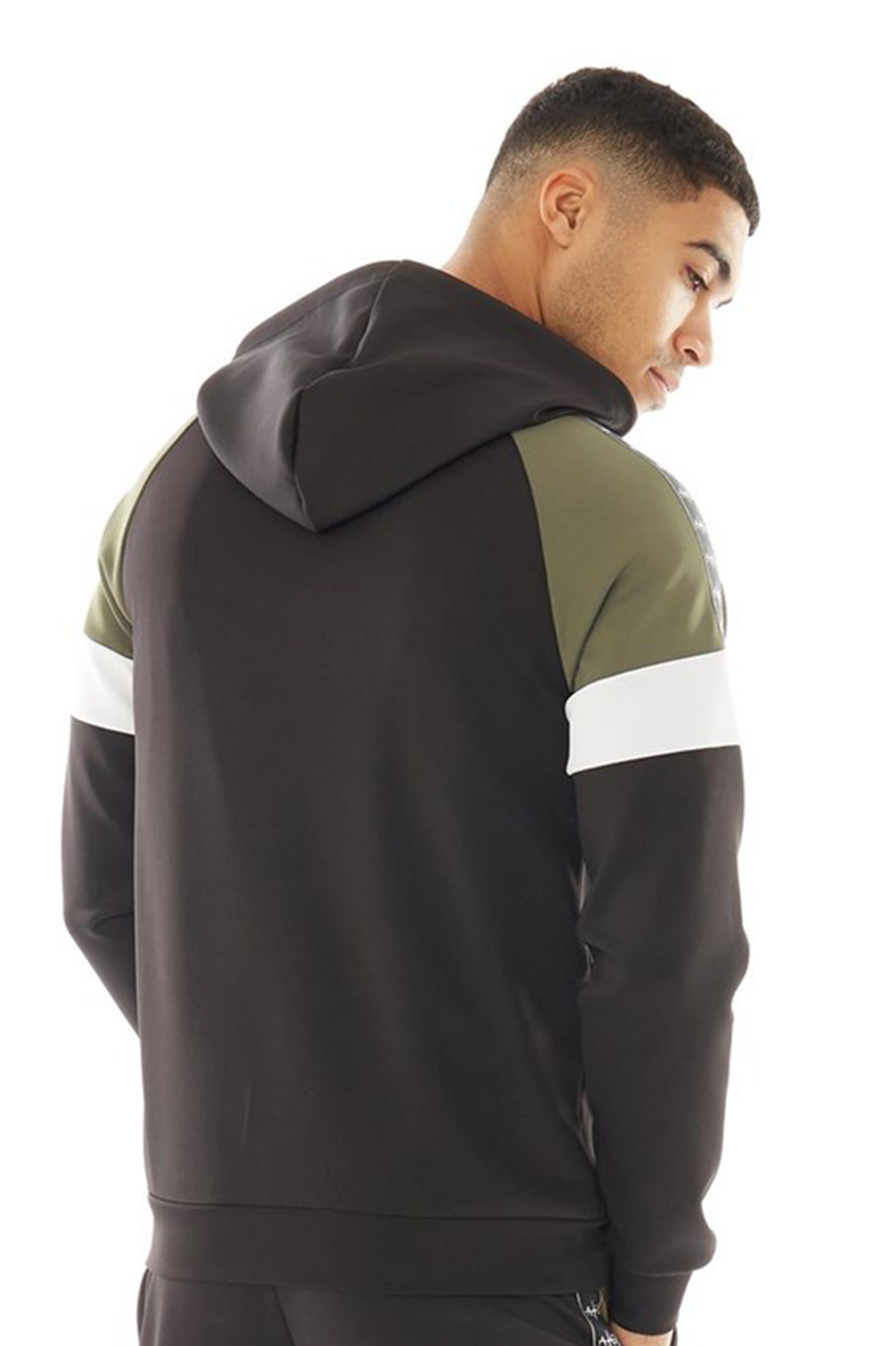 Men's Walter Hoodie in Black/Khaki
