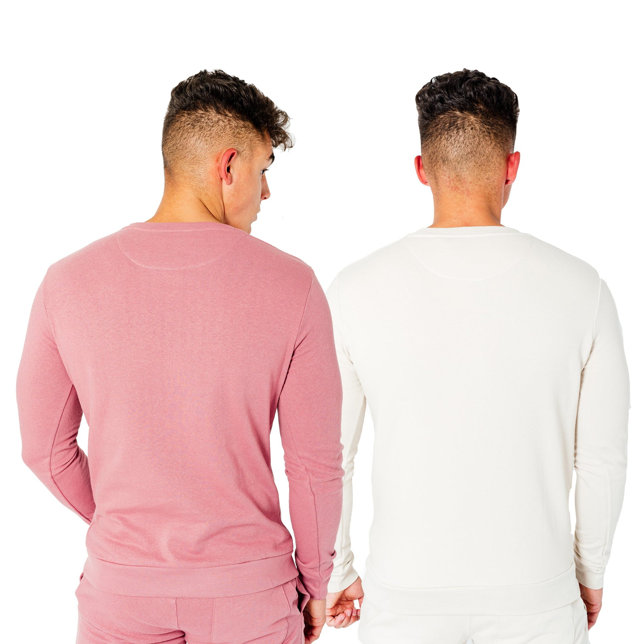 Men's Wright Two Pack Sweatshirts in Stone & Dusty Pink - DEFEND LONDON