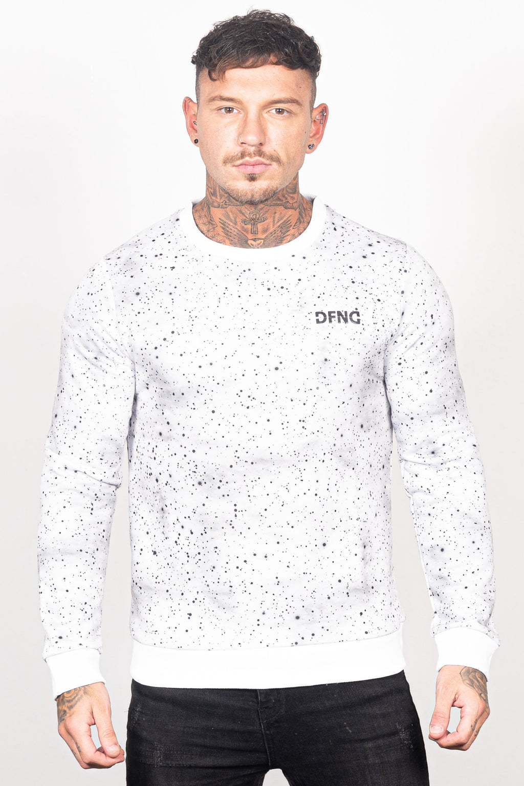 Men's Specter Sweatshirt in White - DEFEND LONDON
