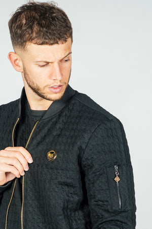 Men's Dogtooth Jacket in Black