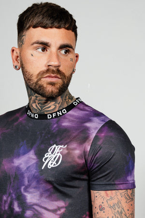 Men's Subtle T-Shirt in Black & Purple